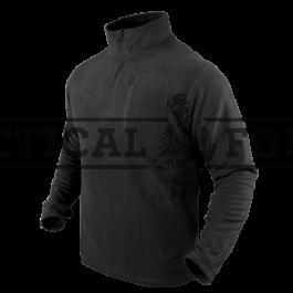 """CONDOR - džemperis """"Zip fleece pullover"""" Black"""