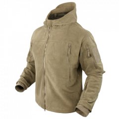 "CONDOR - džemperis ""Sierra hooded fleece jacket"" TAN"