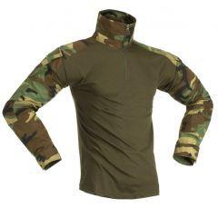 """INVADER GEAR - Taktiniai marškinėliai """"COMBAT SHIRT"""" Woodland"""