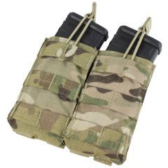 CONDOR - dvigubas krepšelis M4/M16 dėtuvėms Multicam