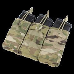 CONDOR - trigubas atviro tipo krepšelis M4/M16 dėtuvėms Multicam