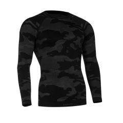 Tervel - termo marškinėliai ilgom rankovėm LVL1 Black/grey camo